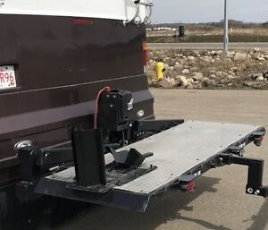 RV Motorcycle Lift/Carrier with an Electric Winch (RARE FIND)