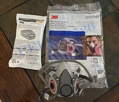3M6200 Half Facepiece Mask With a Set of 3M6003 Filters Brand New