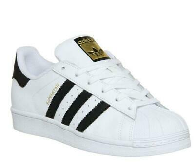 Adidas Men's Originals Superstar Trainers Classic Sneakers Retro Shoes White