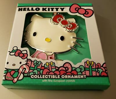 Brand New Sanrio Hello Kitty Christmas Ornament 2019 Fine European Crystals Cat ()