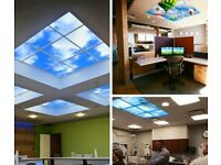 Custom SKY LED Ceiling Panel Cloud Scene Recessed Suspended 40W Multiple 600 x 600mm Panel Light