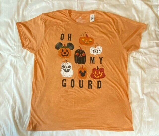 Disney Parks Oh My Gourd Halloween 2021 Mickey T-Shirt L LARGE