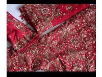 Red Bridal Indian Lengha