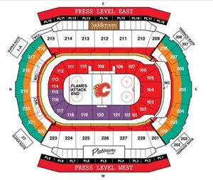 Calgary Flames vs Edmonton Oilers - 4 tickets March 31