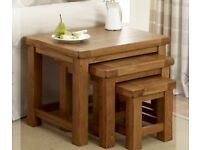 Solid Oak Nest of Tables (3) Rustic, almost new Still Available Matching items