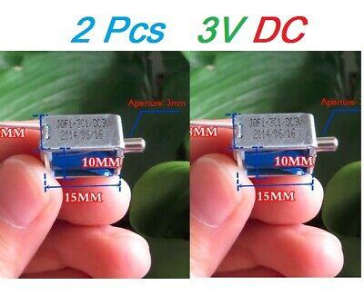 2pcs Mini Small Miniature Solenoid Valve Flow Exhaust Valve Electronic