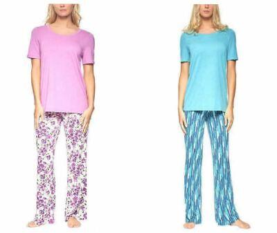2 Piece Jersey Pjs (NEW Felina Ladies' 2-Piece Super Soft Knit Jersey Pajama Set -)