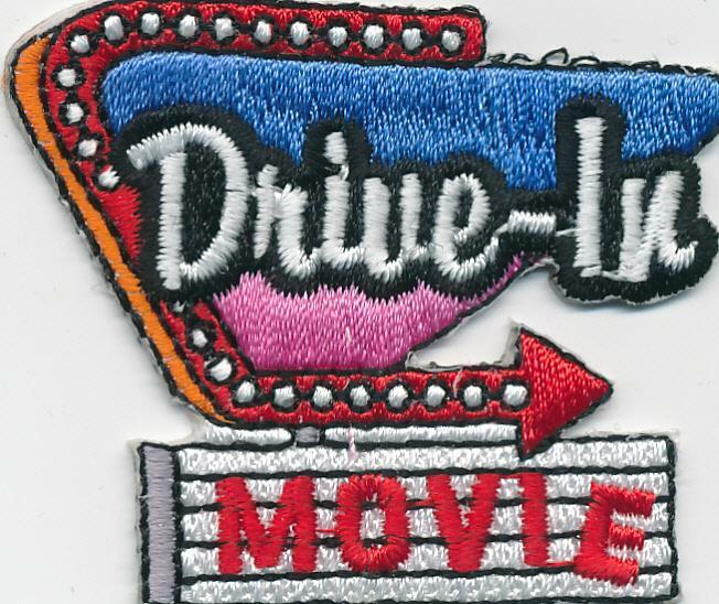 Girl Boy Cub DRIVE IN MOVIE visit Fun Patches Crests Badge SCOUT GUIDES theater