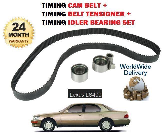 FOR LEXUS LS400 4.0 1989-1997  NEW TIMING CAM BELT + TENSIONER + IDLER KIT SET
