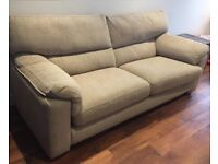 Three seater sofa - 'stone' colour (beige)