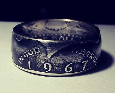 1967 Sizes 7 Thru 15 Option Silver Jfk Half Dollar Coin Ring In God We Trust Usa