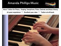 Piano Lessons / Singing / Sax / Flute / Clarinet & Music Theory