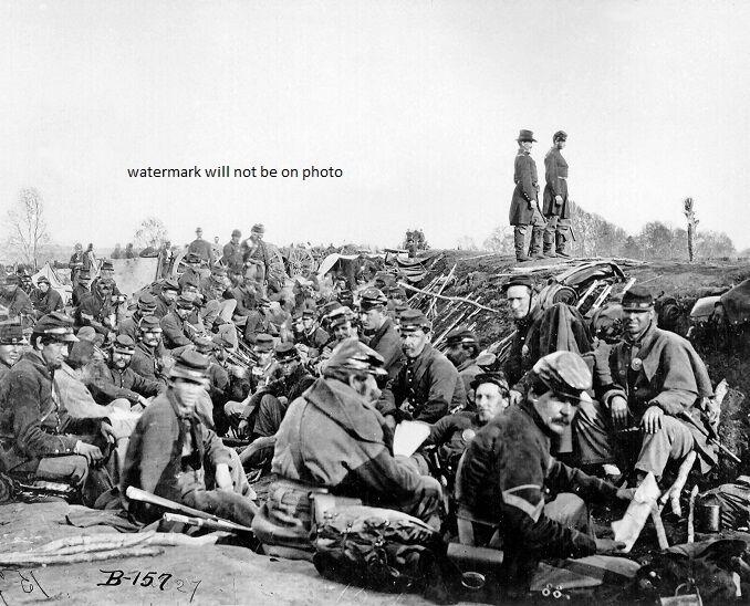 """Union Soldiers before Battle of Chancellorsville 8""""x 10"""" Civil War Photo #116"""