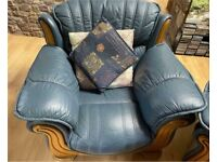 Stunning comfortable soft REAL LEATHER armchair