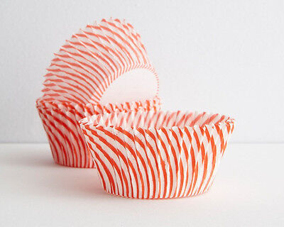 STRIPED RED - CUPCAKE LINERS - 50 Ct. -  Standard