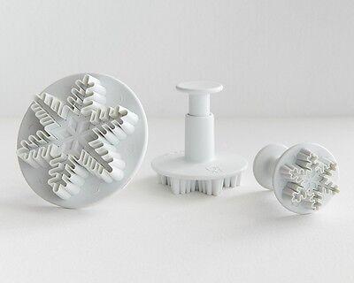 Schneeflocken Eiskönigin Ausstechformen 3D Plätzchen Ausstecher Fondant
