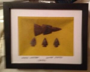 Arrowhead / Tomahawk Framed Collection (2 Piece) Great Gift