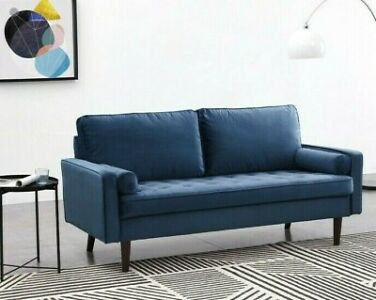 3 Seater Velvet Sofa Luxury Fabric Couch Settee Suite Luxury Upholstered Seat