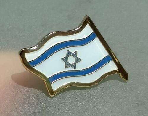 Lot 5 Israeli Flag Lapel Pin Badge Star of David Zionist Country State of Israel