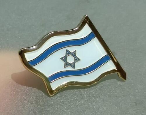 ISRAEL Country FLAG LAPEL PIN Shirt Badge, Israeli Star of David Jewish/Judaica