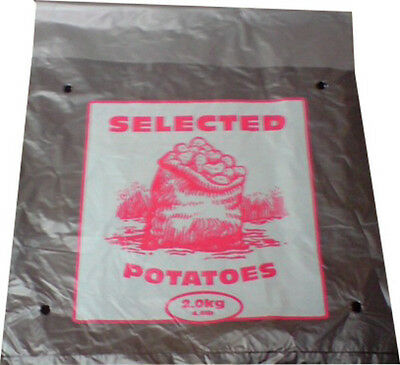 1000x Potato Spud Bags Sacks 2kg 10x14