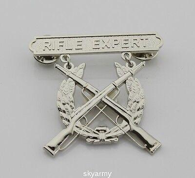 US MARINE CORPS USMC RIFLE EXPERT SHOOTING BADGE PIN - Marine Corps Shooting