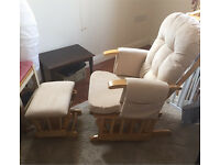 Baby Weavers Nursing Glider/Rocking Chair with footstool