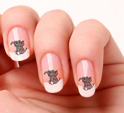 20 Nail Art Decals Transfers Stickers #434 - Cute elephant  peel & stick