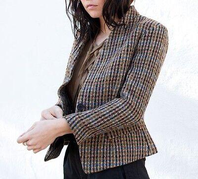 NWT ISABEL MARANT ETOILE Lardy Wool Blend Single Button Blazer Tweed Jacket