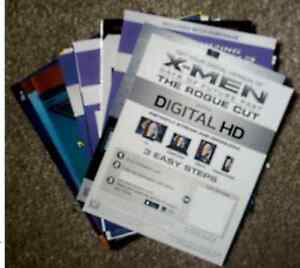 Stack of Ultraviolet/Digital HD Cards