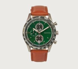 Men's Watch - British Green Racer Chronograph