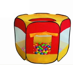 CHILDRENS KIDS MULTI-COLOURED POP UP BALL PIT PLAY TENT INDOOR OUTDOOR