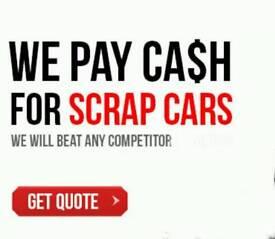 SCRAP CARS & VANS WANTED 7 DAYS