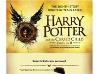 2 x Harry Potter and the Cursed Child tickets 15/04/2018 (both parts)