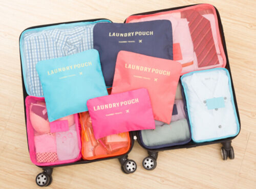 9Pcs Waterproof Clothes Storage Bags Packing Cube Travel Luggage Organizer Pouch