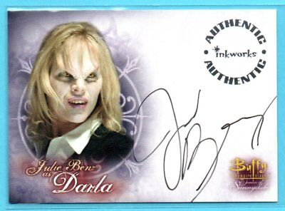 2004 Inkworks AUTHENTIC Julie Benz as DARLA ON-CARD AUTO - BUFFY VAMPIRE SLAYER