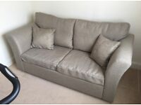 Beige Mocha Double Pull Out Sofa Bed Immaculate Condition