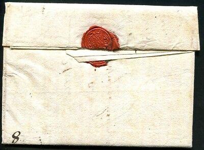 BADEN 1791 DECRUHE von KARLSRUHE vollständiger VORPHILABRIEF (J9179