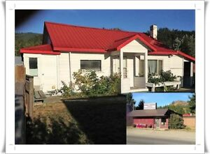 HOUSE & COMMERCIAL BUILDING ON ONE LARGE LOT..!