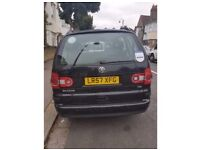 Black 2007 VW Sharan 1.9 TDI for sale with PCO!!!!