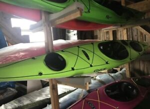 Elie Strait XE Kayaks with Rudder in Green or Blue Instock!
