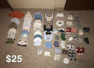Baby Boy Lot (Toques, Mitts, Bibs, Socks.)