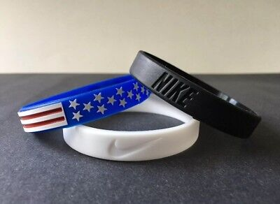 Nike Black And White Wristband USA COMBO PACK 3 Bracelets Baller ID