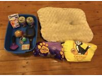 Cat/Kitten Litter Tray Bowl Dish Food Litter Biscuits Toys Treats