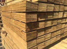 Timber Feather Edge Fence Panels/ Pieces/ Boards