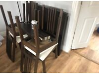 Chocolate Brown Black IKEA Extendable Table