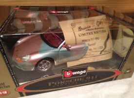 Limited edition hand painted BBurago 3315 Porsche 911 Carrera
