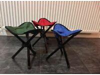 3X Outdoor Folding Tripod Seat Camping Hiking Fishing Stool Picnic BBQ Chair