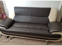 LEATHER SOFA SET 3 & 2 SEATER 3 MONTHS OLD
