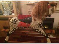 Antique Pair of collinsons of Liverpool rocking horses